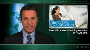 Sleep-disordered breathing common in PCOS girls
