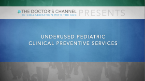 CDC MMWR - Pediatric Clinical Preventive Services - Introduction - Underused Programs